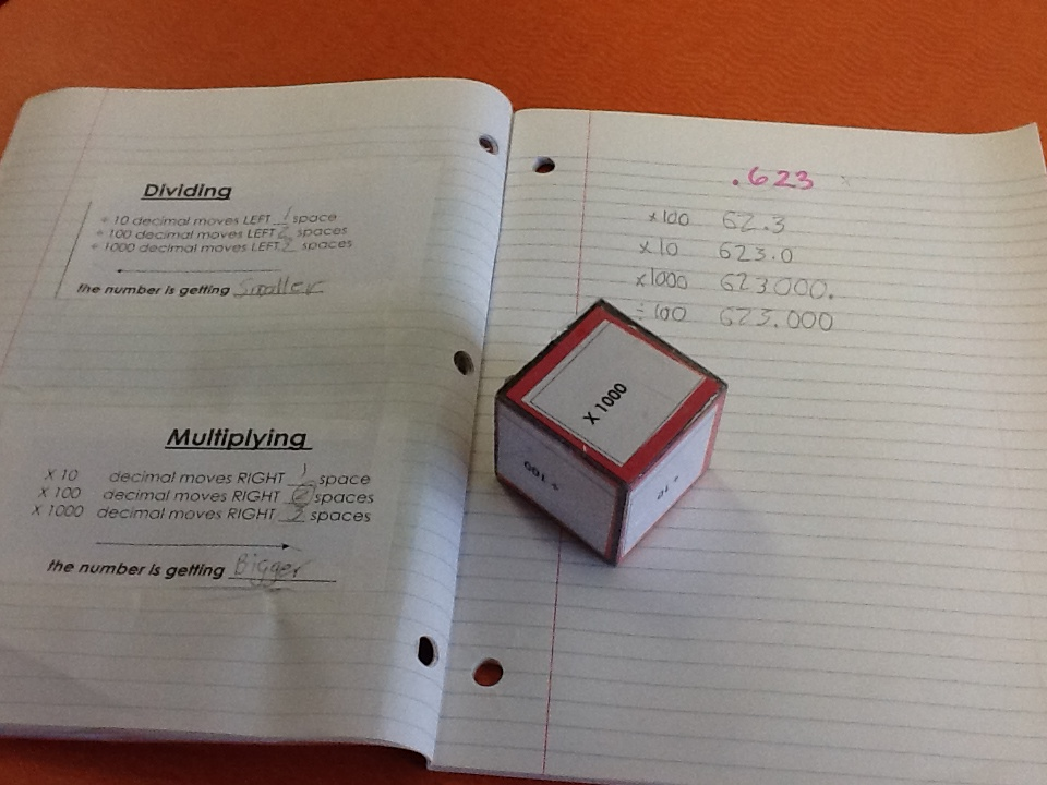 Multiplying and Dividing Decimals by 10, 100, 1000 | The Resourceful ...