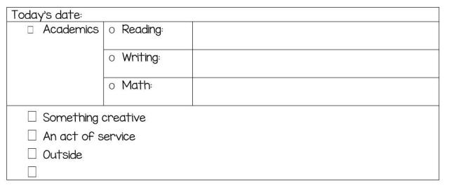 pic of checklist